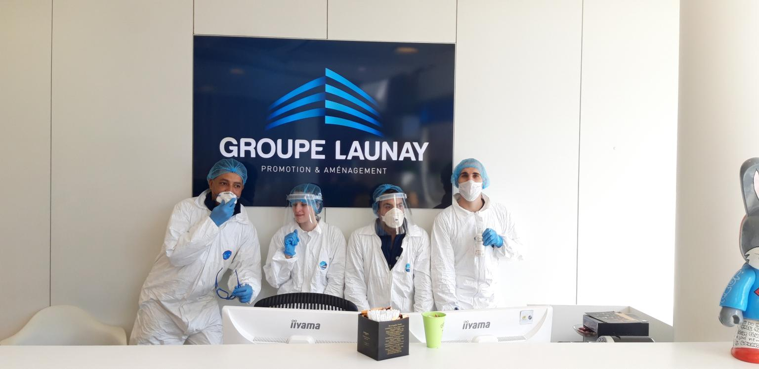 désinfection locaux Groupe Launay virucide covid19